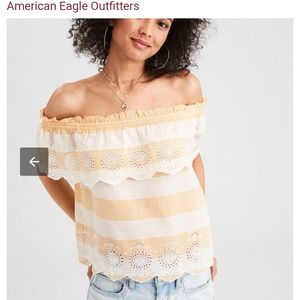 d9fac981128b9 Tops - American eagle Off the shoulder top